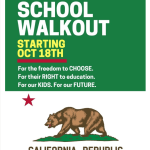 California Freedom Rising: Statewide School Walkout Monday October 18