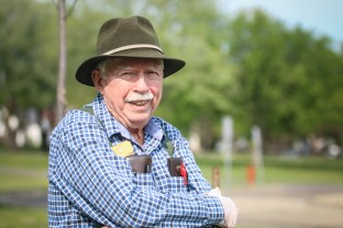 William (Bill) Sheridan has donated nearly 30 trees over the last four years at the University of North Dakota in Grand Forks, ND on Wednesday, May 18, 2016. (Joshua Komer/Grand Forks Herald)