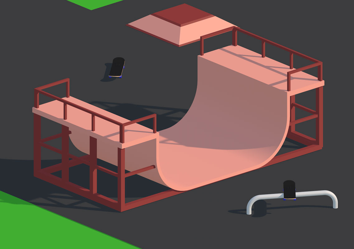 half-pipe animation created for fun and social media