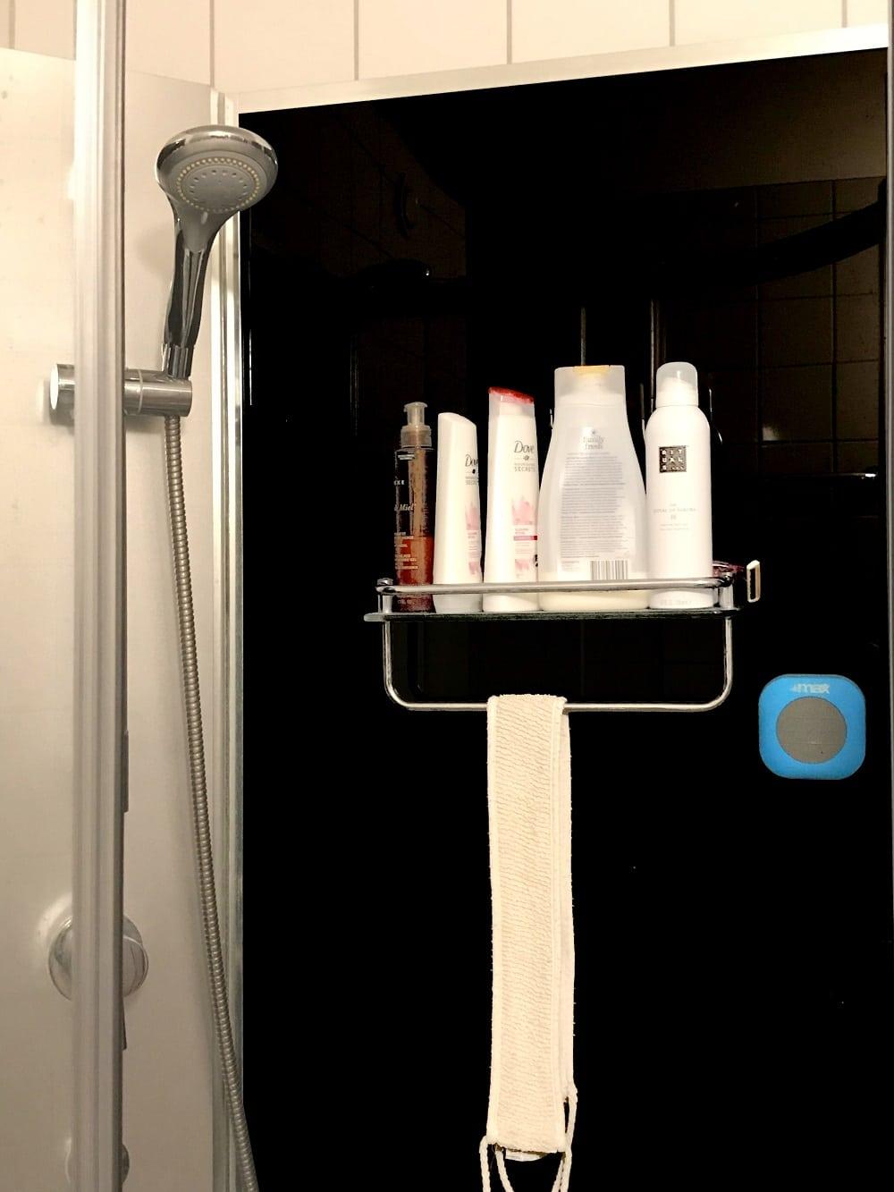 Badrumshögtalare i duschen