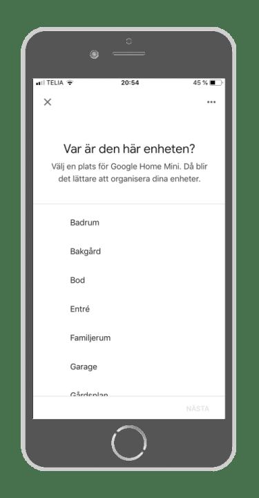Google Home - Var finns enheten