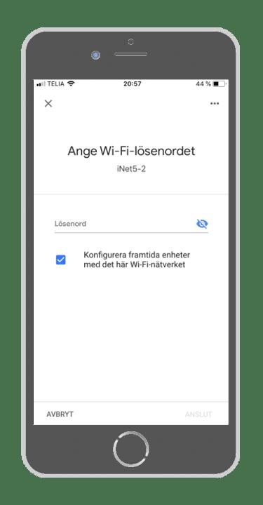 Google Home - Wi-fi lösenord