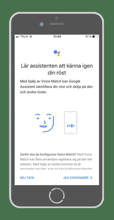 Google home - känna igen din röst