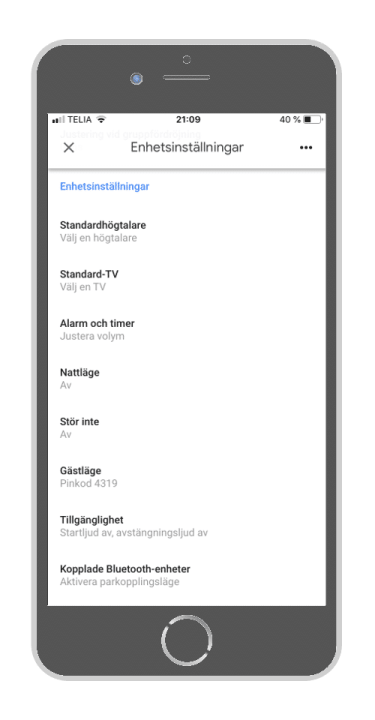 Google Home - Välj standardhögtalare