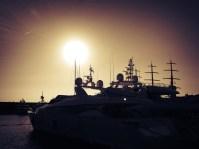 Sunset over Port Adrianno
