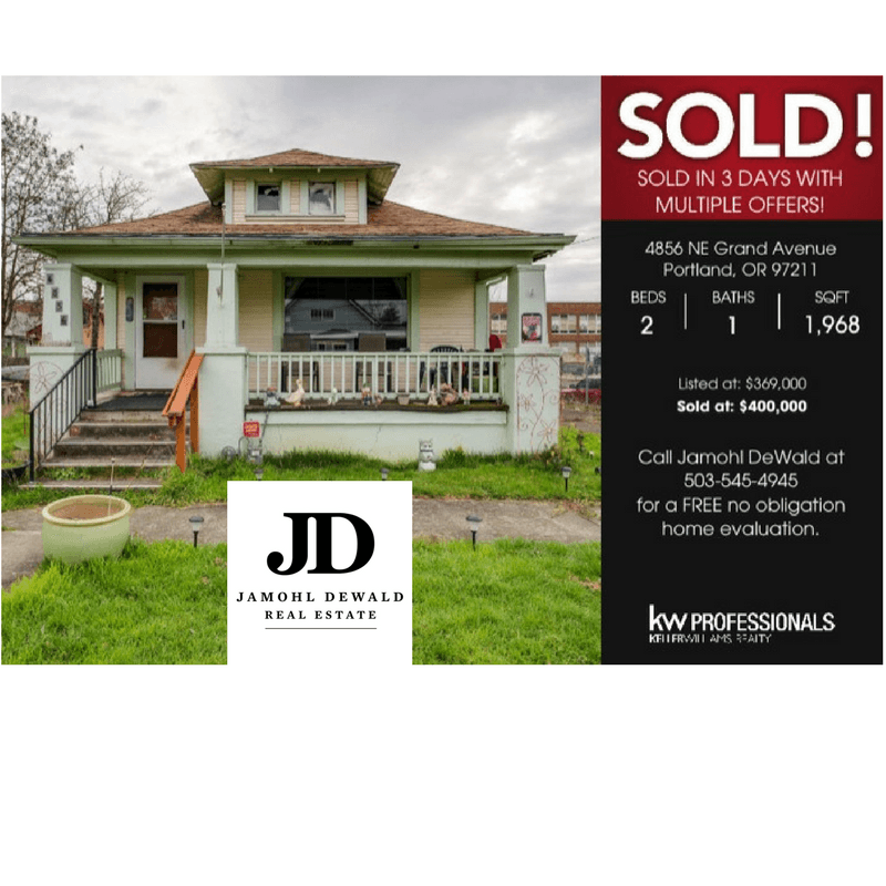 SOLD 4856 NE Grand Ave. Portland, OR