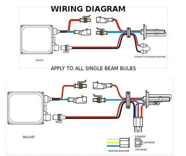 hid h4 bulb wiring diagram dual slim  ez cart voltage