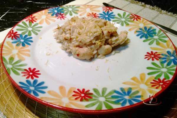 Risoto de frango com limão siciliano