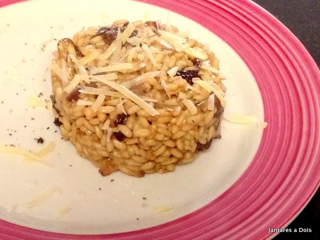 Receita de Risoto de Cogumelos Funghi e Shitake