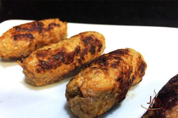 Bolinho de carne com cenoura e aveia