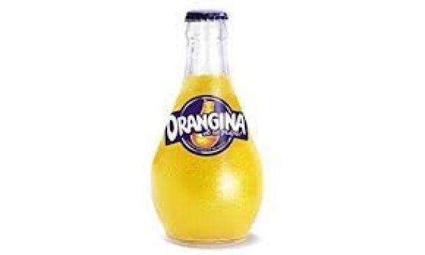 Bottle of Orangina drink