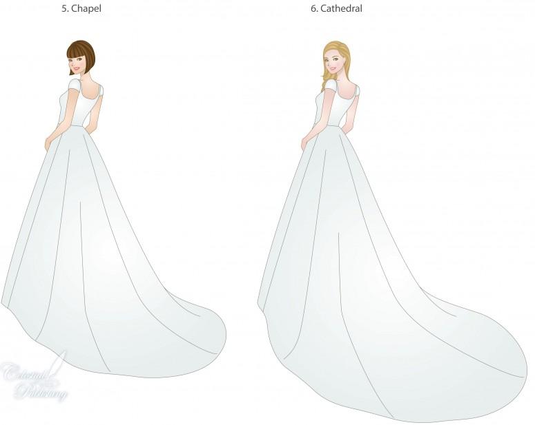 Types Of Wedding Dress Trains