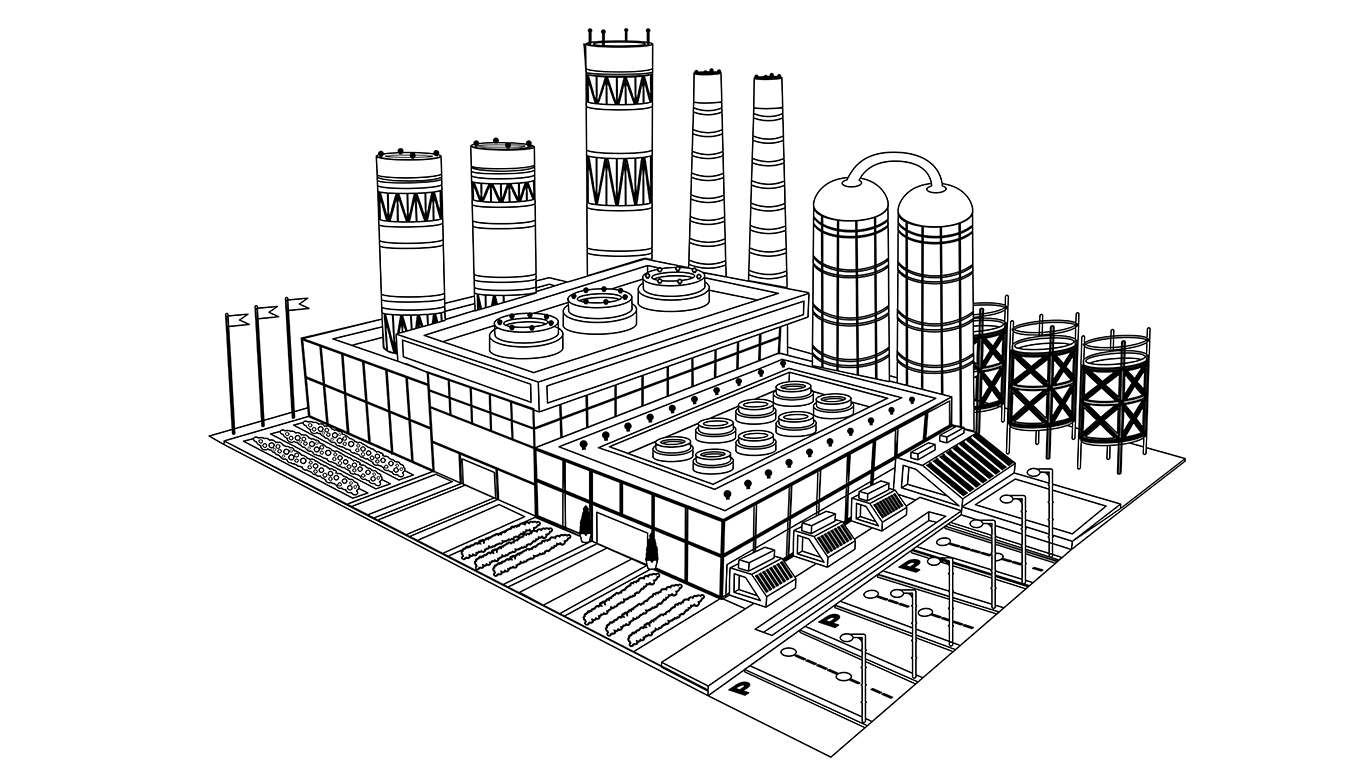 JDSfaulkner Industrial Services Power Plant Drawing