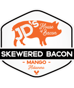Mango Habanero Flavored Skewered Bacon