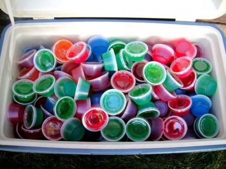 Jello Shots in a cooler