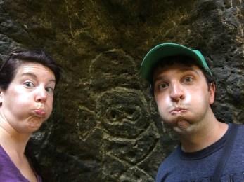 Cave drawings in Puerto Rico at the Cueva del Indio