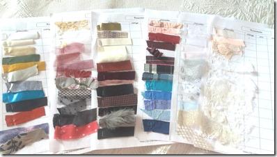 inventaire arc-en-ciel de tissus