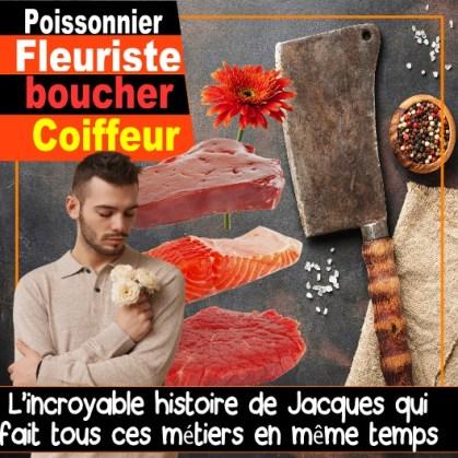 fleuriste coiffeur poissonnier boucher