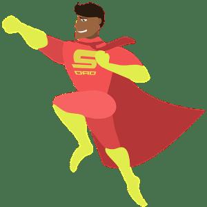 Congé parental super papa - super-héros - Je tu elles