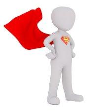 Affirmations - Position power - Power attitude - Bonhomme blanc en superman