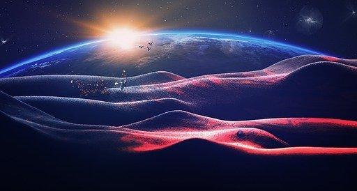 Devenir astronaute pour atteindre la Lune, Mars et les étoiles - Paysage spatial - Terre vue d'une autre planète