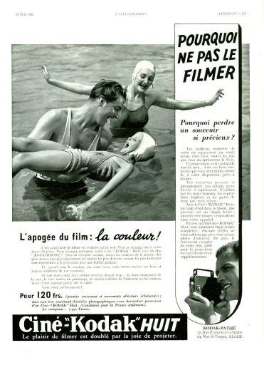 Les super-pouvoirs du sourire publicité de Kodak invitant à immortaliser des moments pour ne pas perdre un souvenir si précieux - famille se baignant et jouant dans la mer.