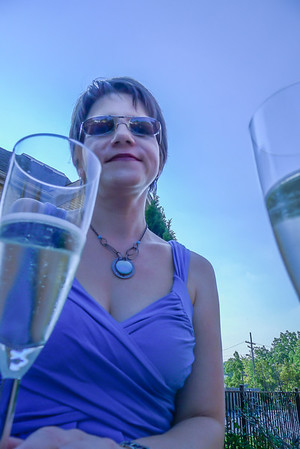 Bubbly on the patio