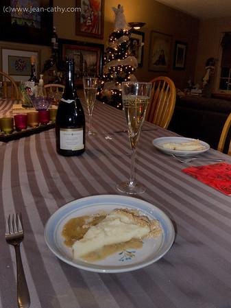 Praline cream pie with Ice cuvee