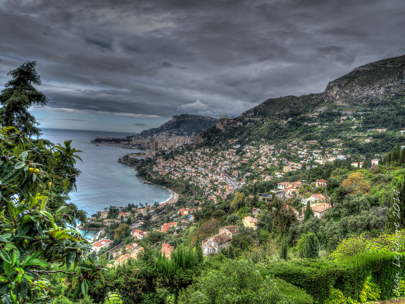 a view of the principality of Monaco