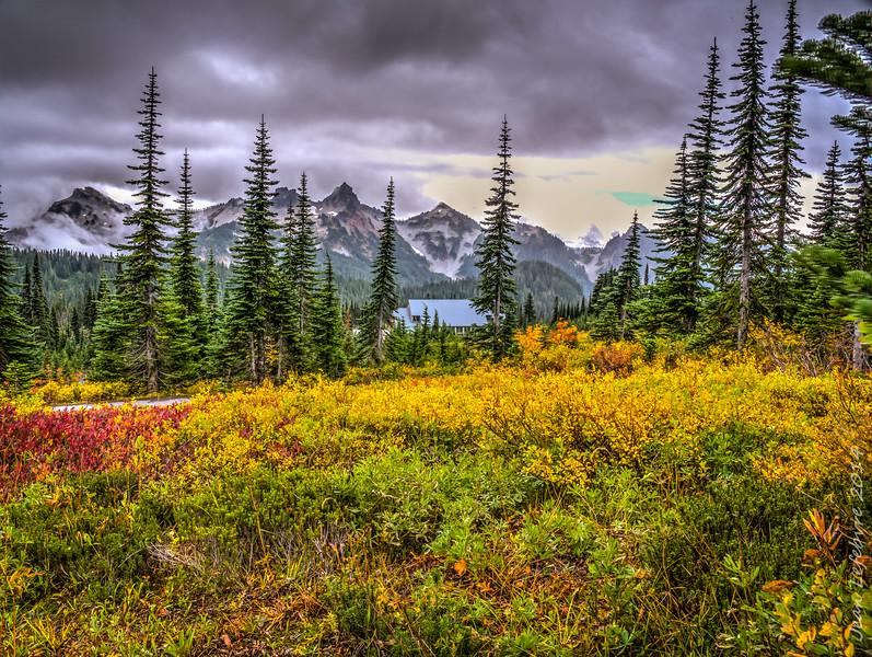 Mount Rainier in the fall