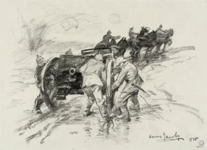 Pièce de 150 mm enlevée sous le feu, 1915