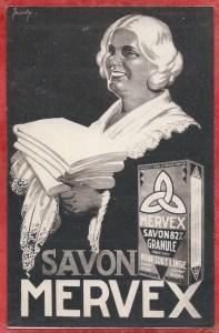 Carte publicitaire SAVON MERVEX