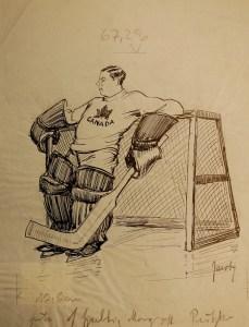 Der kanadische Eishockeytorwart Sullivan - Front