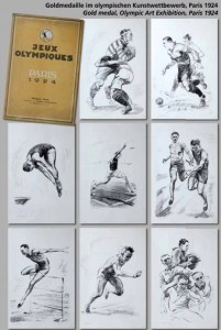 Carton 8 Lithographies - Jeux Olympiques Paris 1924
