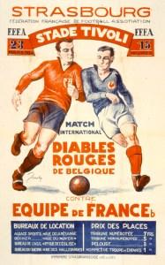Diables Rouges de Belgique contre équipe de France b