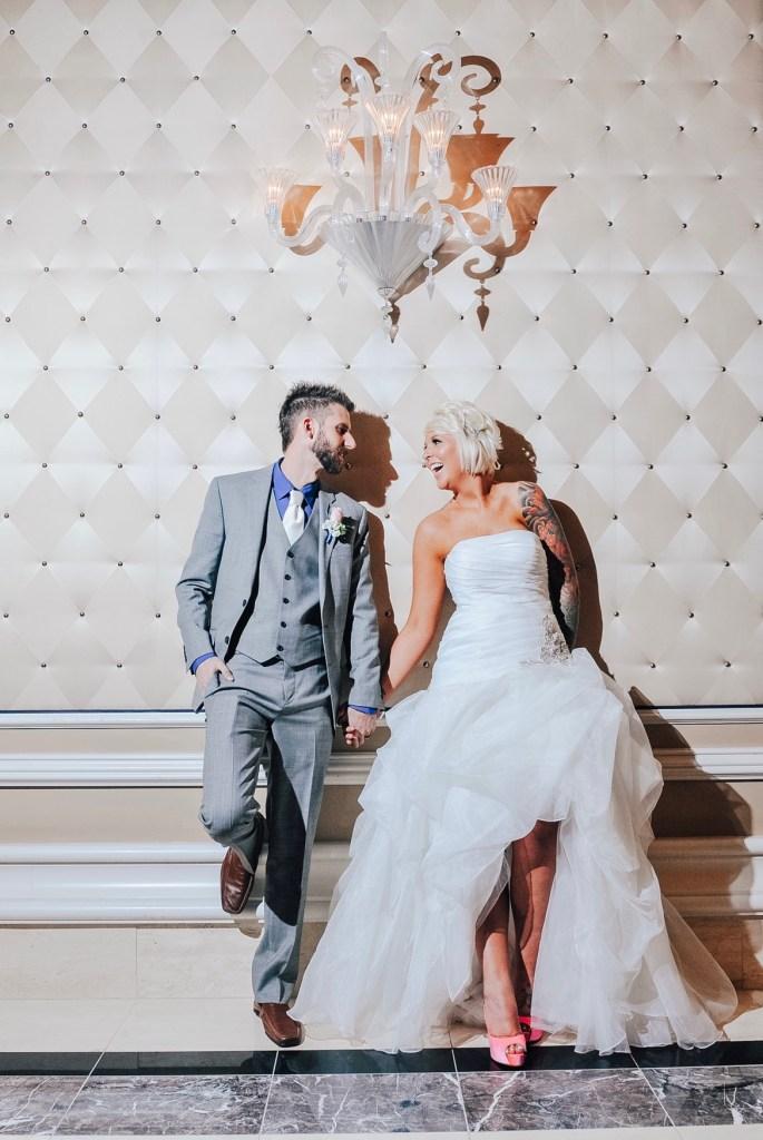 Jeana & Austin wedding day at Bellagio.