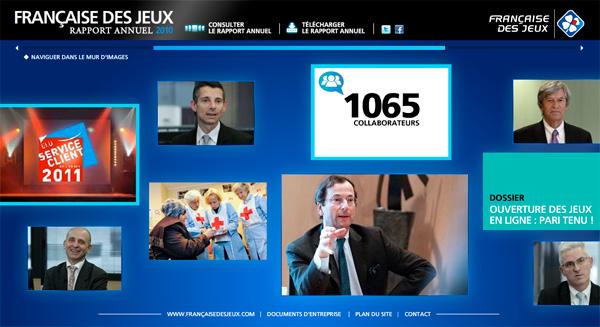 Française des Jeux rapport annuel 2010
