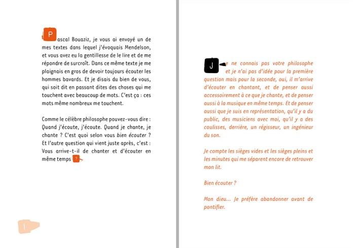 première double page du livre