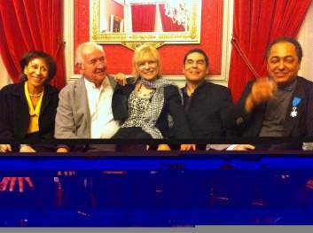 Claude Carrière, Charlotte Fuentes, Moi , Alain Jean-Marie ( Remise de Médaille chevalier des arts & lettres)
