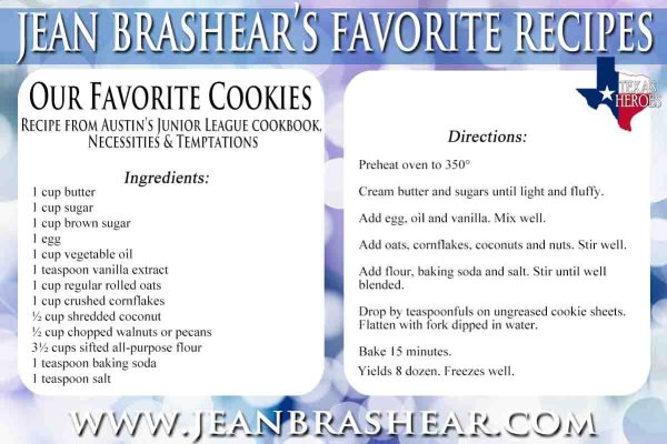 Our Favorite Cookies Recipe by Jean Brashear
