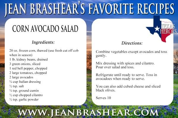 Corn Avocado Salad Recipe by Jean Brashear
