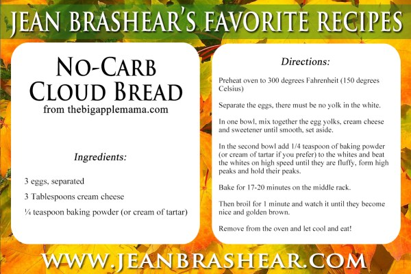 No-Carb Cloud Bread Recipe by Jean Brashear