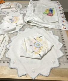 A New Use for Vintage Linens? by Jean Brashear