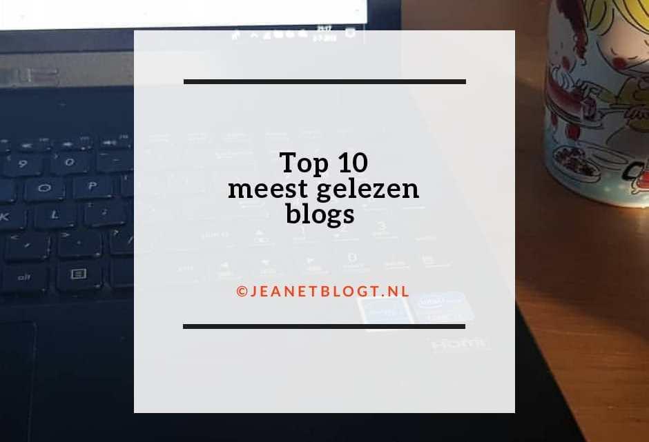 Top 10 meest gelezen blogs van dit moment.