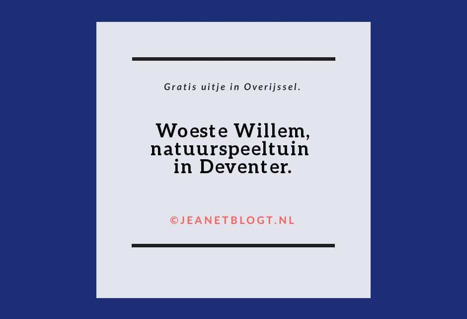 Woeste Willem, natuurspeeltuin in Deventer.