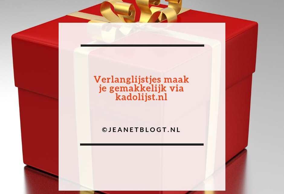 Verlanglijstjes maak je gemakkelijk via kadolijst.nl