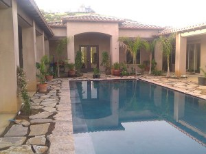Jeanette's pool and garden