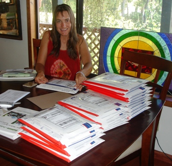 Jeanette's daughter mailing books