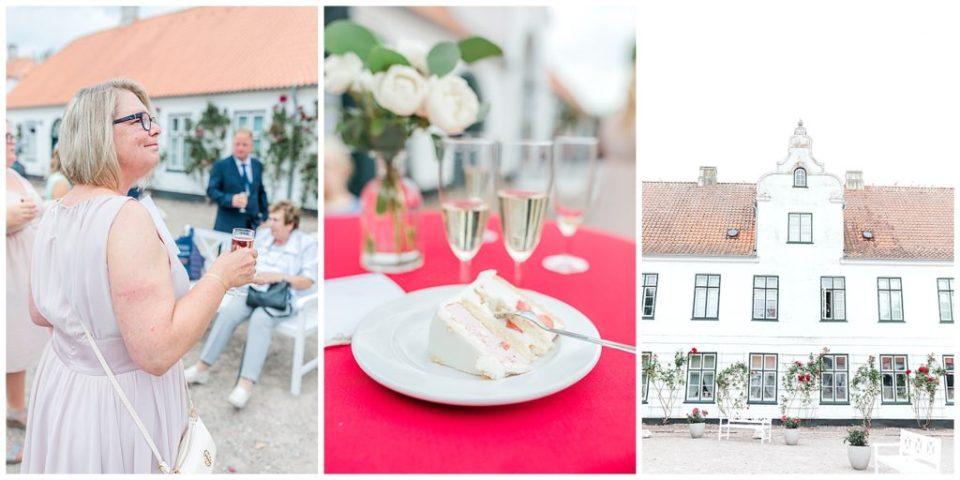 billede af bryllupskagen ved bryllup i nordtyskland ved glücksburg slot til bryllupsinspiration for bruden og gommen taget af aarhus bryllupsfotograf jeanette merstrand