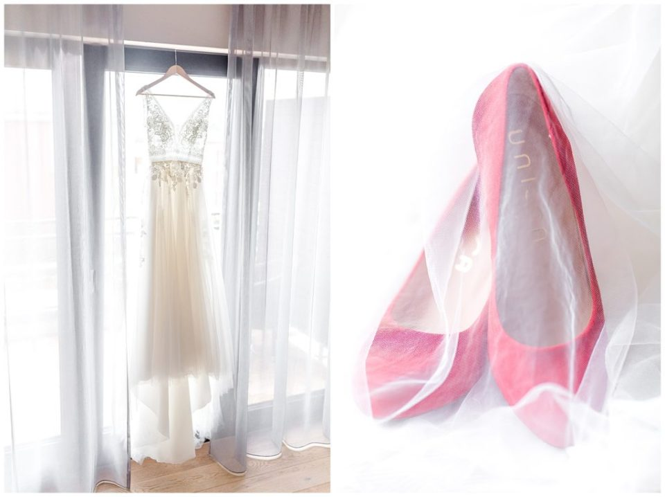 bryllupsbilleder af brudekjolen og andre bryllupsdetaljer